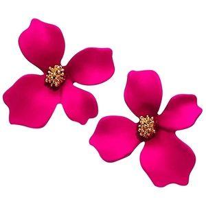 Jewelry - 🌺Pink Tropical Flower Earrings 🌺